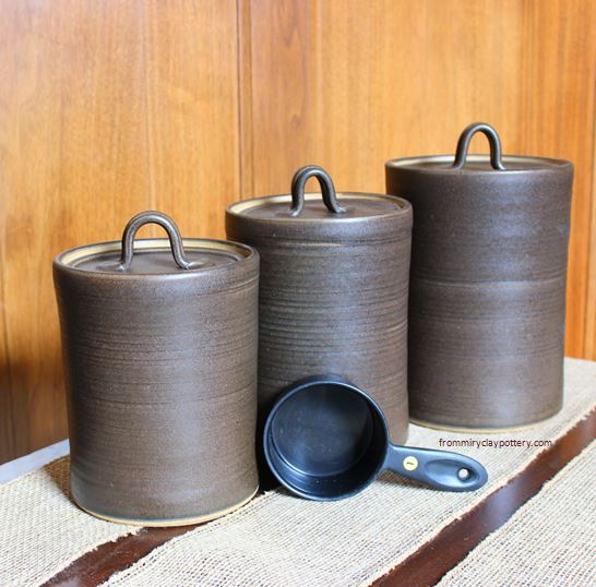 Canister Set for Flour, Sugar, and Brown Sugar