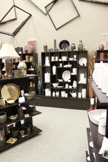 From Miry Clay Pottery's Gallery Display Shelves