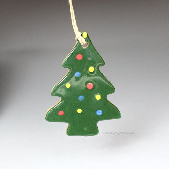 Handmade Pottery Christmas Ornaments From Miry Clay Pottery