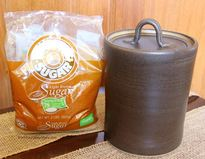 Medium Canister with a bag of brown sugar
