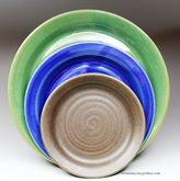 Handmade Pottery Dinner Plate, Salad Plate, and Dessert Plate