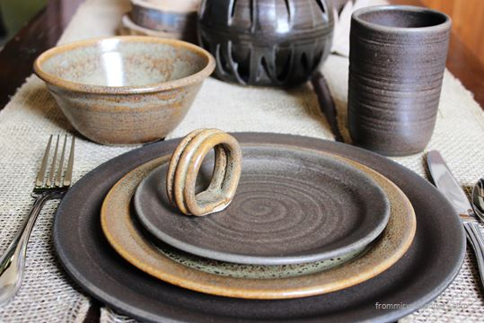 Handmade Pottery Dinnerware Set