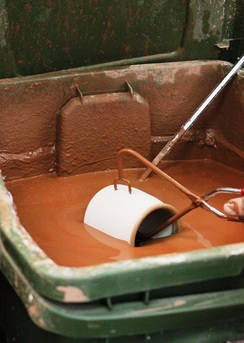 This is how we glaze our handmade pottery