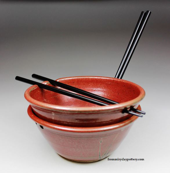 Small Rice Bowl with Chopsticks