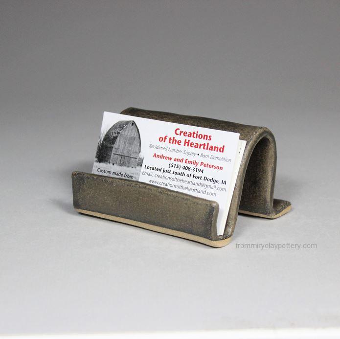 Handmade Pottery Business Card Holder - Handcrafted Business Card Holder